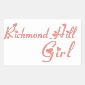 Adesivo Retangular Menina de Richmond