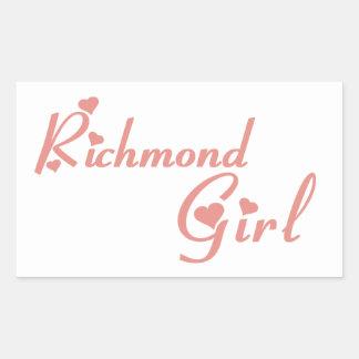 Adesivo Retangular Menina do monte de Richmond