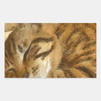 Adesivo Retangular Mentira deixada dos gatos do sono