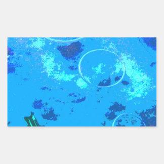 Adesivo Retangular Mergulhador de mergulhador de Havaí