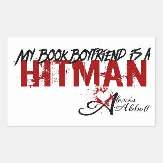 Adesivo Retangular Meu namorado do livro é um Hitman