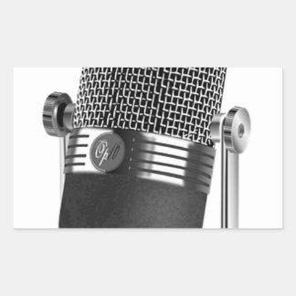 Adesivo Retangular Microfone clássico