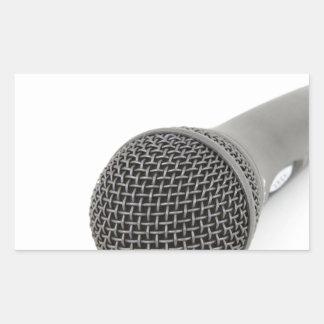 Adesivo Retangular Microfone - conversa a mim