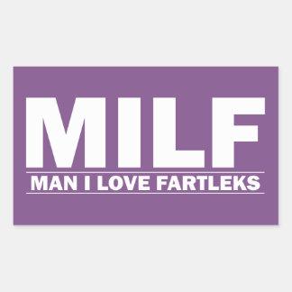 Adesivo Retangular MILF (homem eu amo Fartleks)