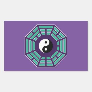 Adesivo Retangular Mim Ching Yin Yang