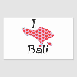 Adesivo Retangular Mim coração Bali