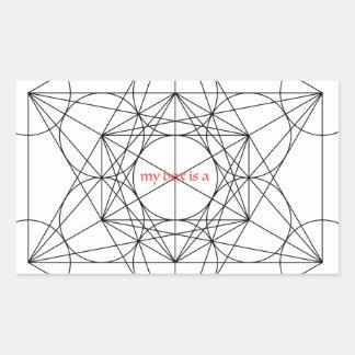 Adesivo Retangular minha caixa é… O cubo de Metatron