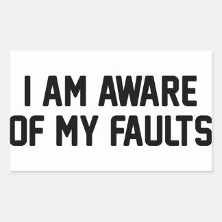 Adesivo Retangular Minhas falhas