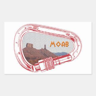 Adesivo Retangular Moab que escala Carabiner