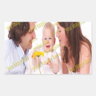 Adesivo Retangular Modelo da foto das memórias da imagem da família