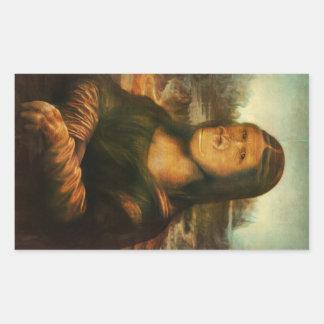 Adesivo Retangular Mona Rilla aka Mona Lisa