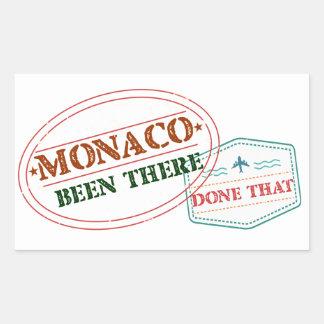 Adesivo Retangular Monaco feito lá isso