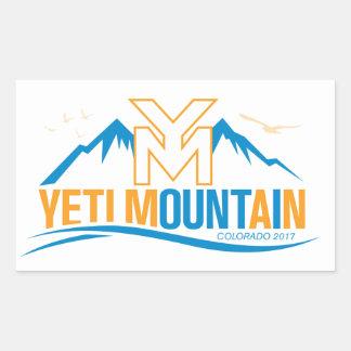 Adesivo Retangular Montanha Colorado 2017 de YetiMan