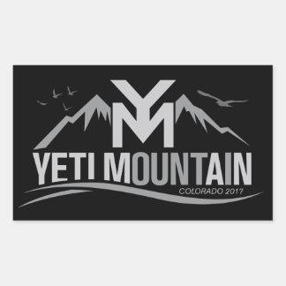 Adesivo Retangular Montanha Colorado de YetiMan 2017 cinzas no preto