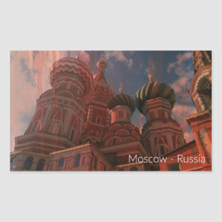 Adesivo Retangular Moscow_russia