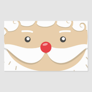Adesivo Retangular Motivo do Natal de Papai Noel