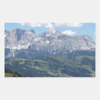 Adesivo Retangular Mountain View das dolomites italianas no verão
