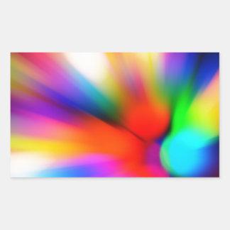 Adesivo Retangular Multi luzes borradas da cor