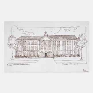 Adesivo Retangular Museo Thyssen-Bornemisza | Madrid, espanha