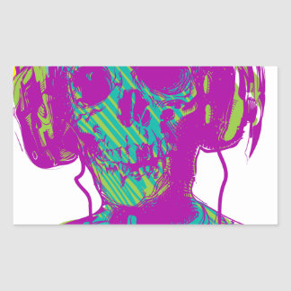 Adesivo Retangular Música do zombi