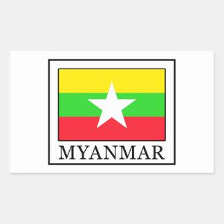 Adesivo Retangular Myanmar
