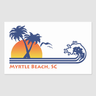 Adesivo Retangular Myrtle Beach South Carolina