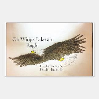Adesivo Retangular Nas asas goste de Eagle