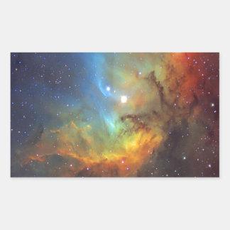 Adesivo Retangular NASA da nebulosa SH2-101 da tulipa