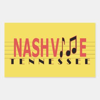 Adesivo Retangular Nashville TN que cola à música