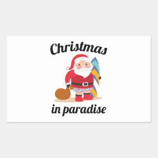 Adesivo Retangular Natal no paraíso