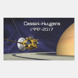 Adesivo Retangular Nave espacial da missão de Cassini Huygens Saturn