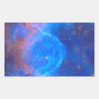 Adesivo Retangular Nebulosa galáctica abstrata com nuvem cósmica 10