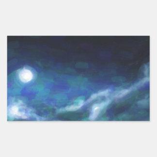 Adesivo Retangular Nebulosa galáctica abstrata com nuvem cósmica 14