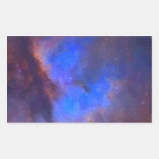 Adesivo Retangular Nebulosa galáctica abstrata com nuvem cósmica 2