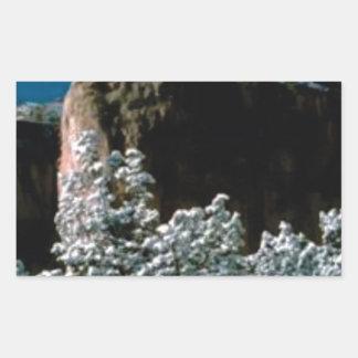 Adesivo Retangular neves do inverno no deserto