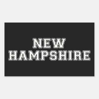 Adesivo Retangular New Hampshire