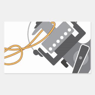 Adesivo Retangular Nó da pesca para conectar a linha ao vetor do