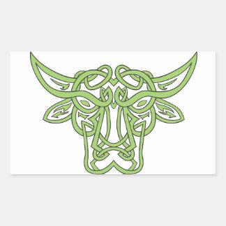 Adesivo Retangular Nó do céltico de Bull do Taurus