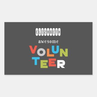 Adesivo Retangular Nome feito sob encomenda, apreciação voluntária