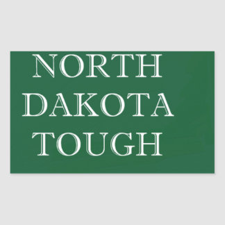 Adesivo Retangular North Dakota resistente