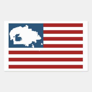 Adesivo Retangular NÓS SOMOS AINDA AQUI! Nação do Navajo na bandeira