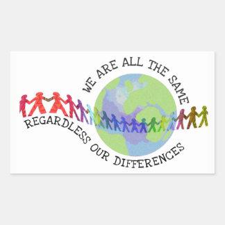 Adesivo Retangular Nós somos todos os mesmos