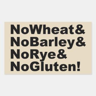 Adesivo Retangular NoWheat&NoBarley&NoRye&NoGluten! (preto)