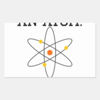 Adesivo Retangular Nunca confie um átomo - ciência engraçada