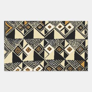 Adesivo Retangular O africano Kuba inspirou o design