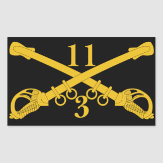 Adesivo Retangular ó Agrupa-se o 11o regimento de cavalaria