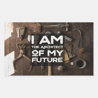 Adesivo Retangular O arquiteto de meu futuro