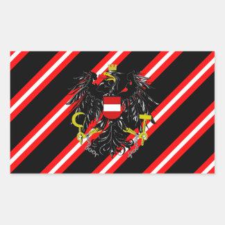 Adesivo Retangular O austríaco listra a bandeira