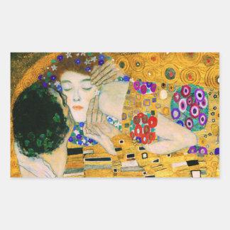 Adesivo Retangular O beijo por Gustavo Klimt