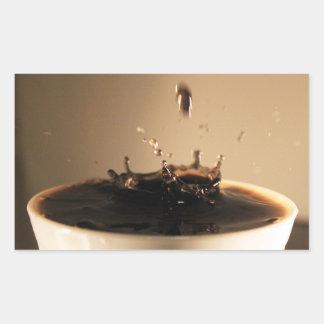 Adesivo Retangular O café espirra